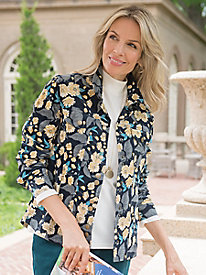 Women's Pretty in Print Microcord Jacket