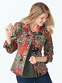 Women's Seasonal Floral Jean Jacket