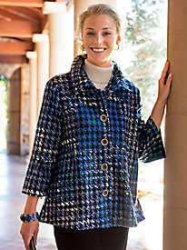 Women's Houndstooth Knit Jacket