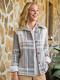 Women's Plaid Perfection Knit Jacket