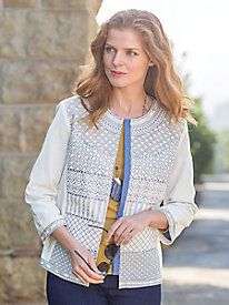 Women's Embroidered Embellished Jacket