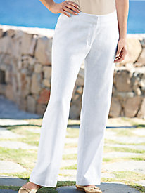 Women's White Linen Pants