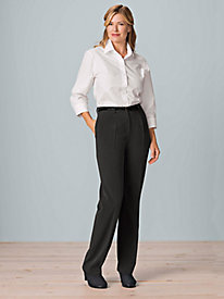 Women's Pleated Bi-Stretch Pants