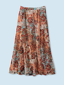 Women's Paisley Calico Swing Skirt