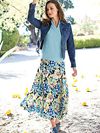 Women's Garden Party Maxi Skirt