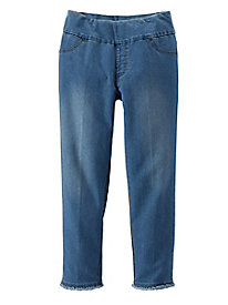 Women's On-The-Fringe Cropped Jeans