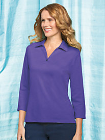 Women's Prima Cotton Johnny Collar Shirt