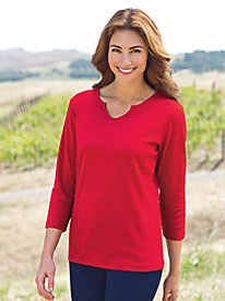 Women's Best-Basic Notch Collar Tunic