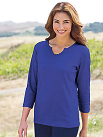 Women's Best-Basic Notch Collar Tunic
