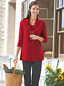 Women's Metro Knits Cowl-Neck Tunic
