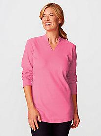 Women's Prima Cotton Split-Neck Tunic
