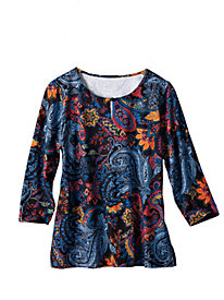 Women's Paisley Day Knit Top