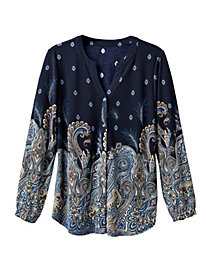 Women's Paisley Knit Tunic