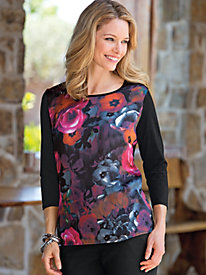 Women's Woven-Knit Floral Dream Tunic