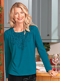 Women's Bedecked Top