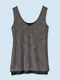 Women's Striped Mesh Tank