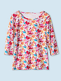 Women's Prima Cotton Floral Tee