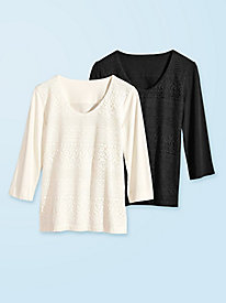 Women's Lace-Up-Front Knit Top