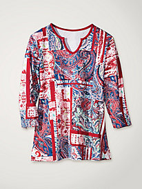 Women's Paisley Patchwork Tunic Tee