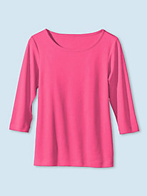 Women's Prima Cotton Ballet-Neck Tee