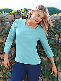 Women's Prima Cotton Square Neck Tee