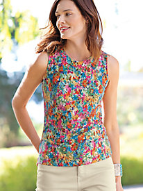 Women's Watercolor Floral Tank