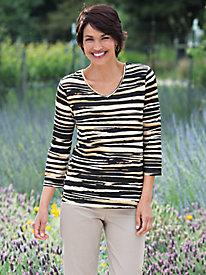 Women's Knit Stripe Top