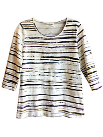 Women's Soft Stripes Slub Tee
