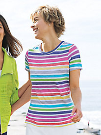 Happy-Go-Lucky Striped Tee Outfit