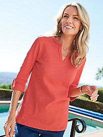 Women's Prima Cotton Pleat-Back Tunic