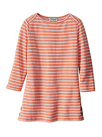 Women's Striped Knit Bateau Top