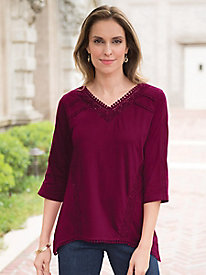 Women's Crochet Away Knit Top