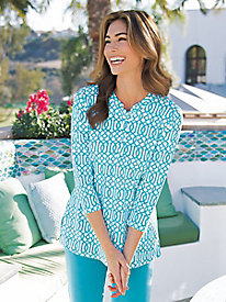 Women's Geo-Print Knit Tunic