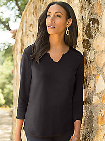 Women's Best Bacis Notch-Neck Tee
