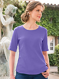 Women's Best Basic Elbow-Sleeve Tee