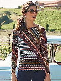 Women's Normandy Stripe 3/4 Sleeve Top