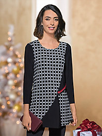 Women's Black & White Tunic