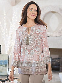 Women's Medallion Print Top