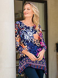 Women's Orchid Floral Knit Tunic