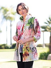 Women's Watercolor Crinkle Tunic