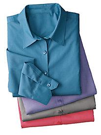 Women's Foxcroft Non-Iron Pinpoint Shirt