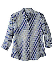Women's Foxcroft Tile Print Shirt