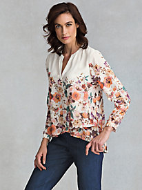 Women's Layered Floral-Edged Tunic