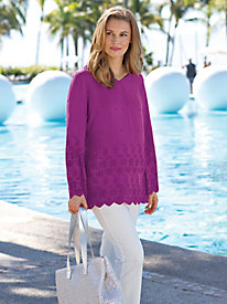 Women's Terrace Lounge Eyelet Tunic