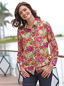 Women's Crinkle Floral Blouse
