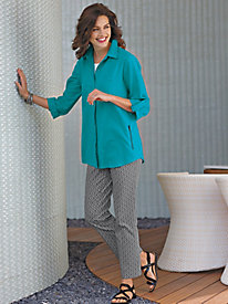 Women's Linen-Cotton Zip-Pocket Tunic