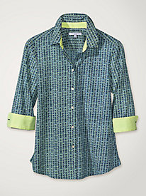 Women's Foxcroft Hints of Herringbone Shirt