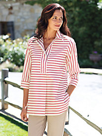 Women's Streamlined Stripe Foxcroft Tunic