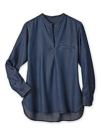 Women's Garment-Washed Tencel Tunic