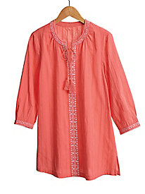 Women's Coral-icious Embroidered Tunic